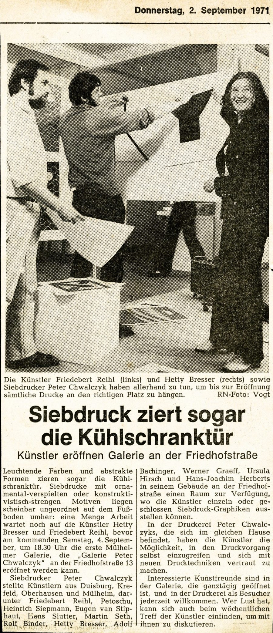 Adolf Bachinger Presse - 1971